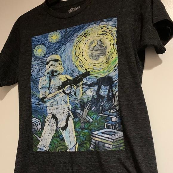 Star Wars Storm Trooper Starry Night t-shirt